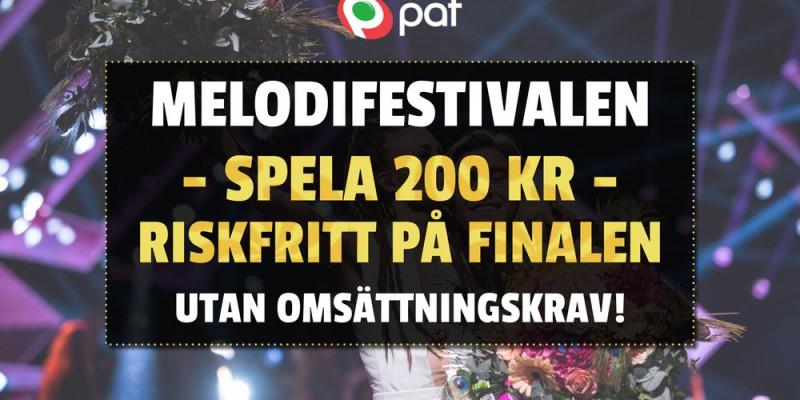 Riskfritt spel kampanj Melodifestivalen 2019 finalen