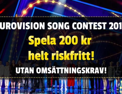 Kampanj: Spela riskfritt på Eurovision 2019 – inga omsättningskrav!