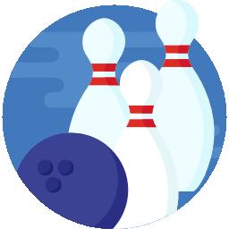 Bowling sport logo