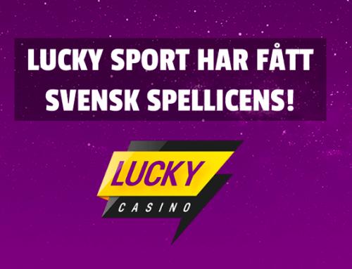 LuckySport har fått svensk spellicens!