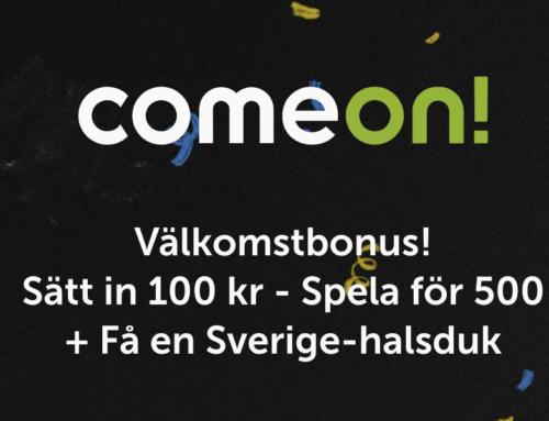 Maxa hösten med ComeOn – Sätt in 100 kr och spela för 500 kr