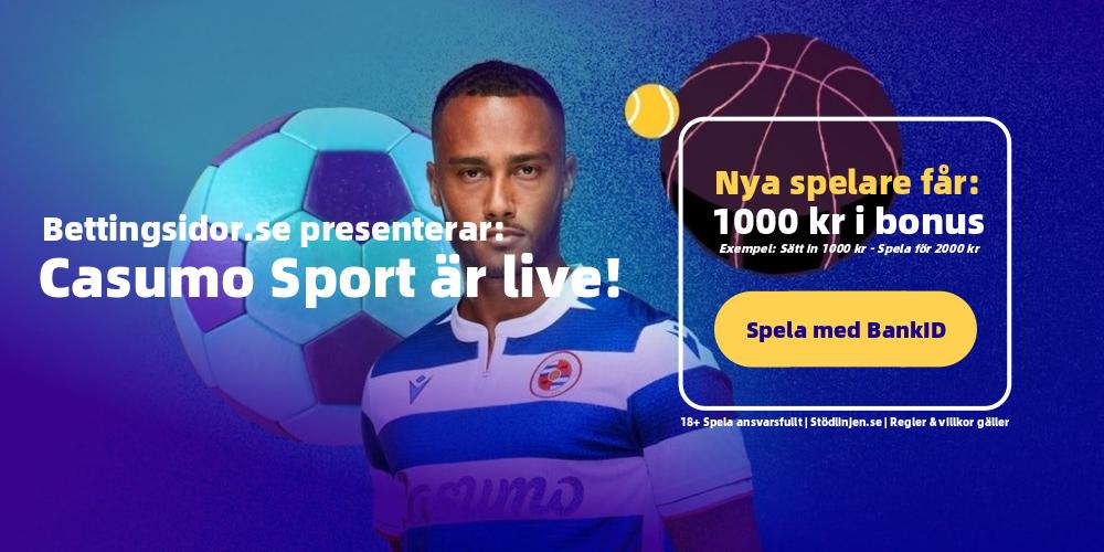 Casumo Sport har lanserats ︎ Betting i världsklass!