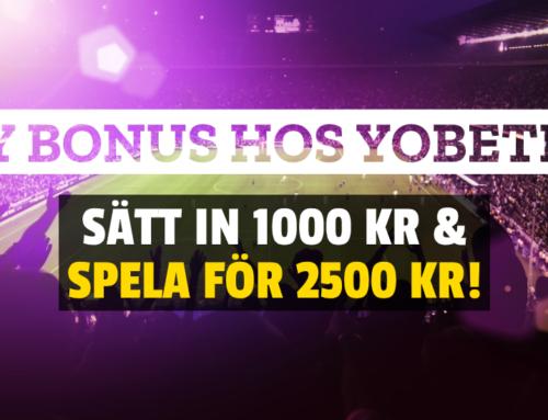 Du har väl inte missat vår exklusiva Yobetit Bonus?