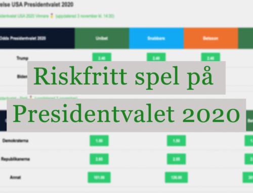 Odds Presidentvalet 2020 – Spela riskfritt på Trump!