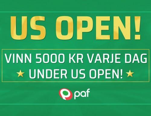 PAF delar ut 5000 kr i cash – när du spelar US Open!